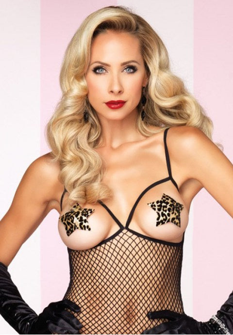 Women's Leopard Silicone Nipple Cover Up Pasties - Fashion Under Arrest