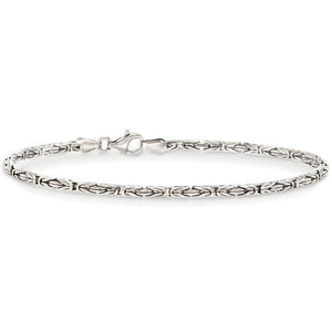 Byzantine Chain Bracelet in 18K White Gold Plated - Fashion Under Arrest