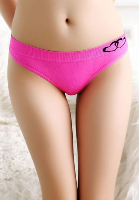 Sweet and Cute Double Heart Panties.