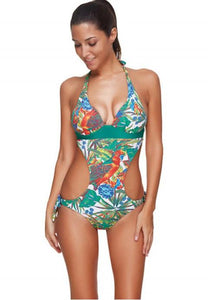 One-piece Sexy V-neck Printing Swimsuit - Fashion Under Arrest