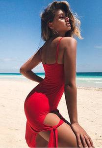 Sexy Sling Sleeveless Bodycon Dress.