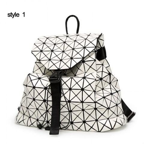 Women's Laser Backpack Geometric Rhombic Fashion Backpack - Fashion Under Arrest