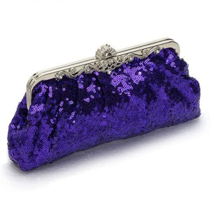 Satin Clutch Sequin Evening Clutch Bag