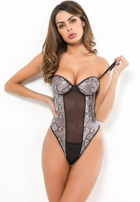 Night Snake Mesh Teddy - Fashion Under Arrest