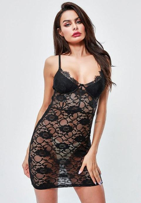 Seductively Stunning Lace Chemise - Fashion Under Arrest