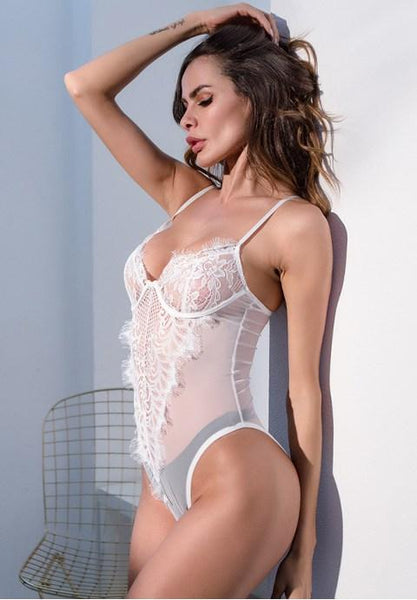 Dainty Eyelash Lace Teddy.