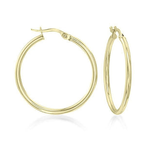 "1.5"" Classic Round Hoop Earringin 18K Gold Plated - Fashion Under Arrest"