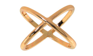 X Cross Ring in 18K Gold Plated.