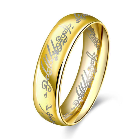 Lord of the Rings Inspired Ring in 18K Gold Played - Fashion Under Arrest