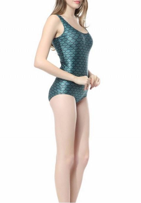 The green mermaid scales one-piece Swimsuit - Fashion Under Arrest