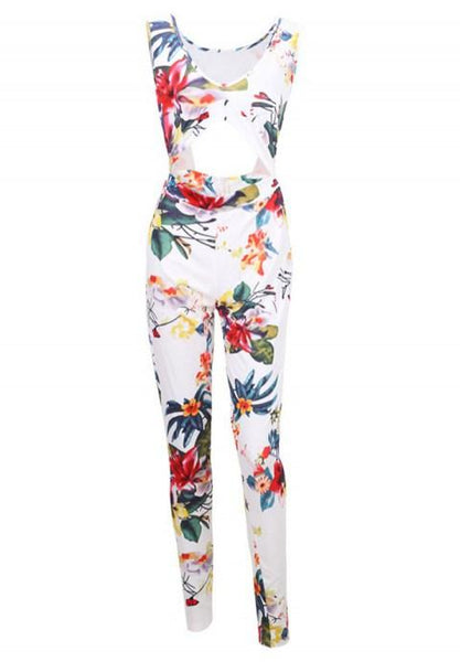 Sexy Backless Printed One-piece Jumpsuits - Fashion Under Arrest