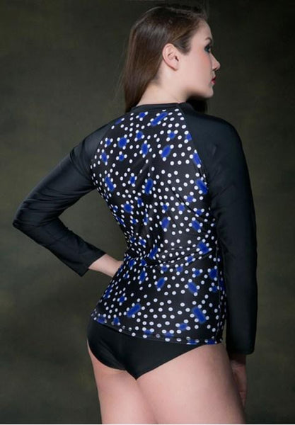 Diving Sport Long Sleeve Blouse Women Swimwear.