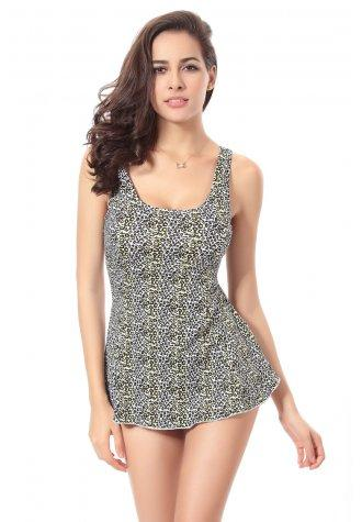 Polka Dot Printed Swimsuit