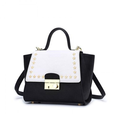 Womens Rivet Tote Handbag Shoulder Bag.