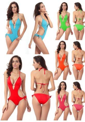 Sexy Cut Out One-Piece Swimsuit.