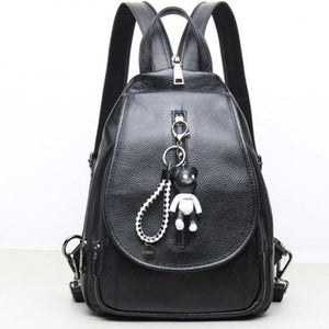 Women's Real Leather School Bag Travel Backpacks Bag