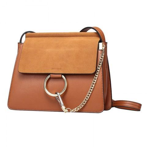 Women's Matting Leather Shoulder Bag