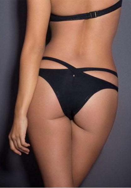 Plus Size Black Open Waist ladies Underwear.