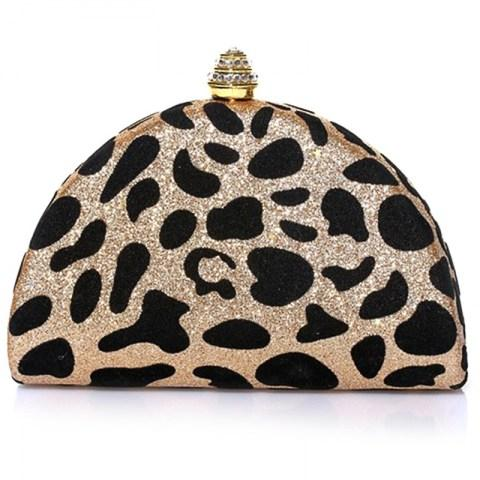 Leopard Print Mini Crystal Top Hard Clutch Bag - Fashion Under Arrest