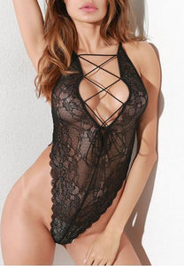 Midnight Love Lace Teddy.