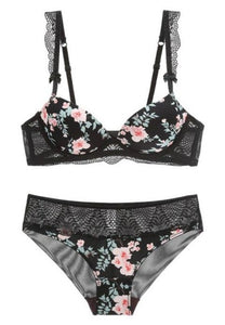 Bright Floral Bra Set - Fashion Under Arrest