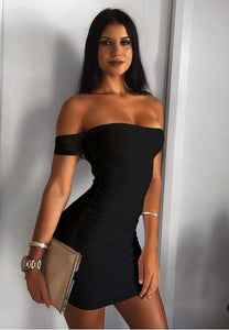 Women's Elegant Off Shoulder Sheath Pencil Party Dress