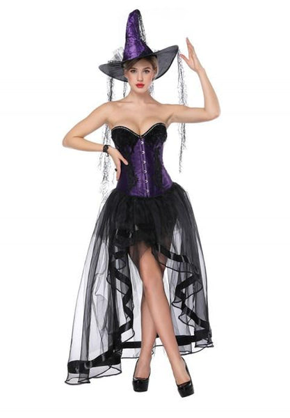 Sweetheart Overbust Corset And High Low Skirt.