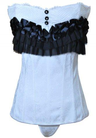 Black and White Classic Elizabeth Corset - Fashion Under Arrest