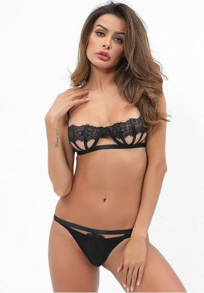 Sexy Open Cup Bralette Set - Fashion Under Arrest