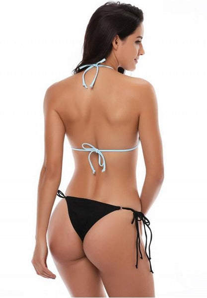 Halter Neck Triangle Bikini Swimsuit