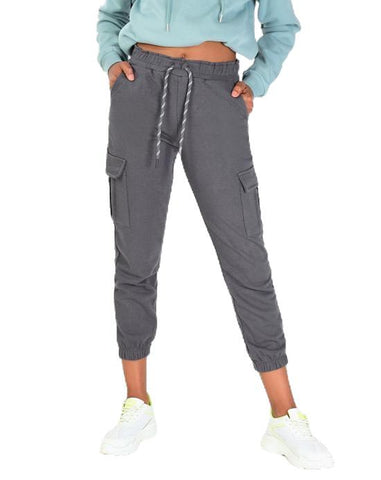 Women's Pocket Anthracite Sweatpants