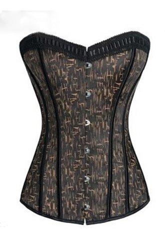 Gothic Grunge Print Overbust Corset.