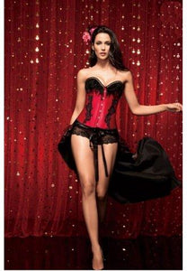 Strapless Corset With Back Detailing and Diamante Trim