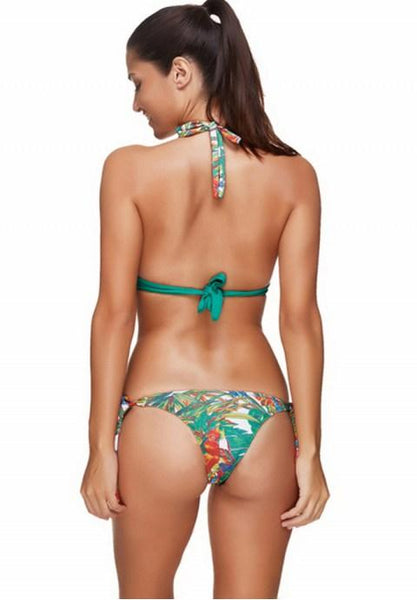 One-piece Sexy V-neck Printing Swimsuit.