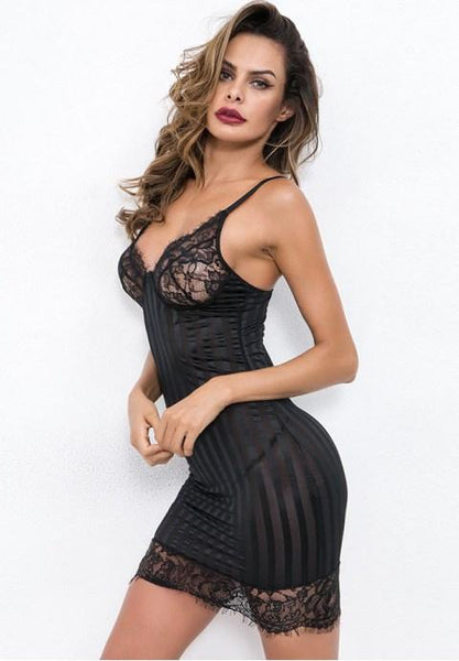 Bad Intentions Lingerie Gown - Fashion Under Arrest