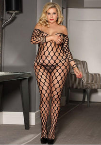 Plus Size Please Me Shredded Tease Me Bodystockings - Fashion Under Arrest