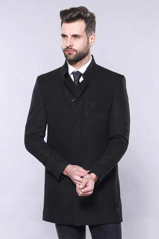 Men's Crew Neck Long Coat