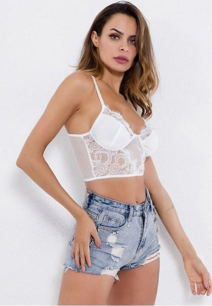 Eyelash Lace Bralette - Fashion Under Arrest