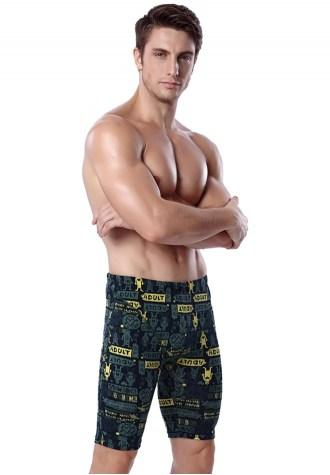 Cartoon Printed Men's Beach Pants Casual Shorts.