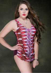Women Print Oone-Piece Swimsuit