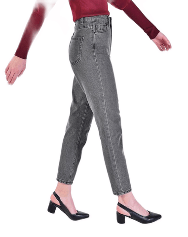 Women's Anthracite Mom Jeans.