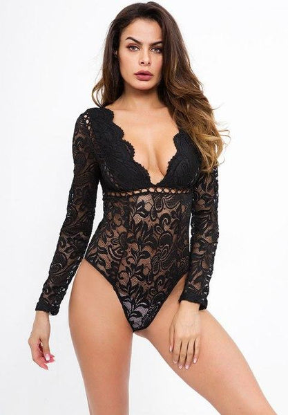 Sneaky Acts of Seduction Long Sleeve Teddy.