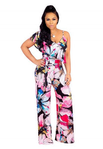 One Piece Sexy Floral Print Jumpsuit Rompers