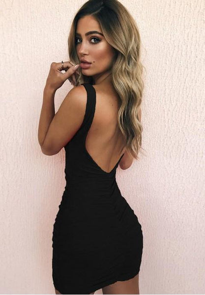 Sexy Sleeveless Backless Bodycon Dress