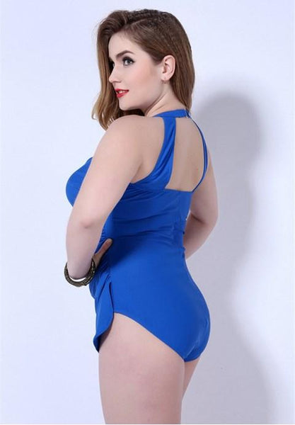 Plus Size Bandeau One Piece Bathing Suits.