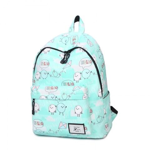 Women's Print Letter Travel Backpack Students Double Shoulder Bag - Fashion Under Arrest