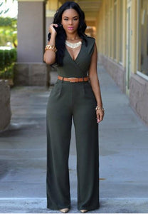 V-neck Sleeveless Jumpsuits - Fashion Under Arrest
