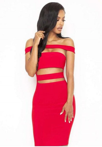 Off The Shoulder Bodycon Club Party Bandage Slim Dress.