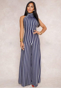 Sexy Halter Neck Backless Jumpsuits - Fashion Under Arrest