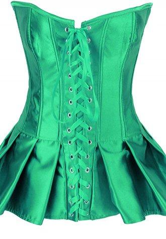 Lace-Up Skirted Satin Corset.